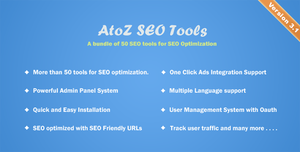 AtoZ SEO Tools - Download Search Engine Optimization Tools