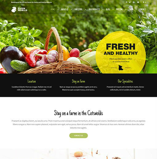 AitThemes FarmWorld - Download Food and Agriculture WordPress Theme