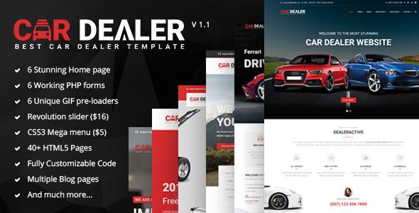 ThemeForest Car Dealer - Download The Best Car Dealer Automotive Responsive HTML5 Template