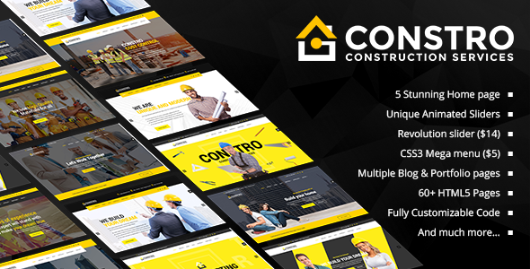 ThemeForest Constro - Download Construction Business HTML5 Template