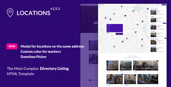 ThemeForest Locations - Download Multipurpose Directory HTML Template