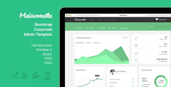 ThemeForest Maisonnette - Download Responsive Admin HTML Template