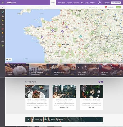 AitThemes FoodGuide - Download Responsive Restaurant Directory WordPress Theme