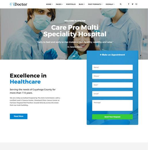 Sj iDoctor - Download Responsive Joomla Doctor, Clinic & Healthcare Template