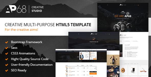 ThemeForest AP68 - Download Creative Multi-Purpose HTML5 Template