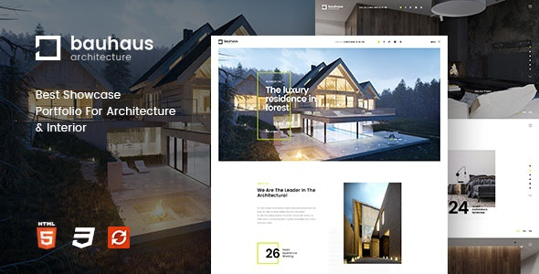 ThemeForest Bauhaus - Download Architecture and Interior HTML Template
