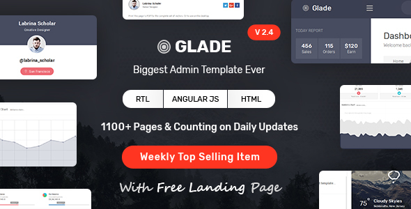 ThemeForest Glade - Download Admin HTML Template with Angular & Bootstrap