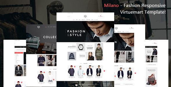 ThemeForest Milano - Download Fashion Responsive Virtuemart Joomla Template