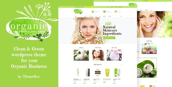 ThemeForest Organic Beauty - Download Store and Natural Cosmetics WordPress Theme