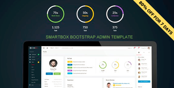 ThemeForest Smartbox - Download Bootstrap Admin Dashboard HTML Template