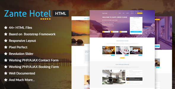 ThemeForest Zante Hotel - Download Hotel and Resort HTML Template