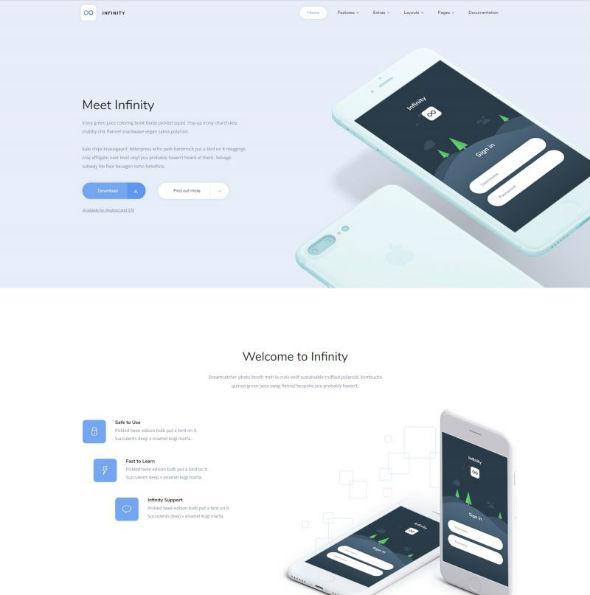 YouJoomla Infinity - Download Mobile Applications Joomla Template