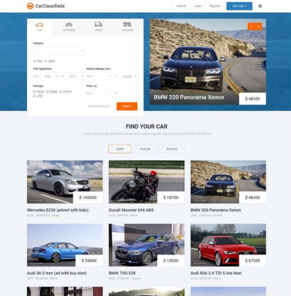 JM Car Classifieds - Download Responsive Online Auto Classifieds Joomla Template