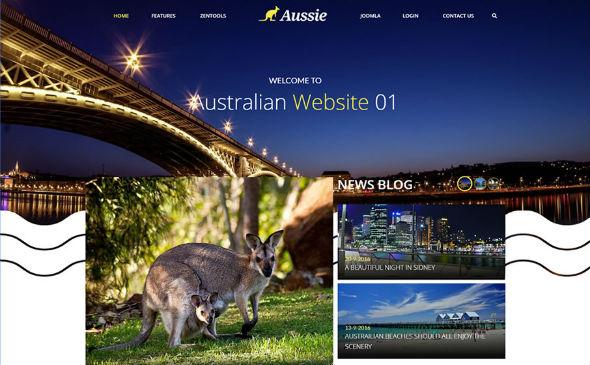 JoomlaBamboo Aussie - Download Responsive Creative Joomla Template