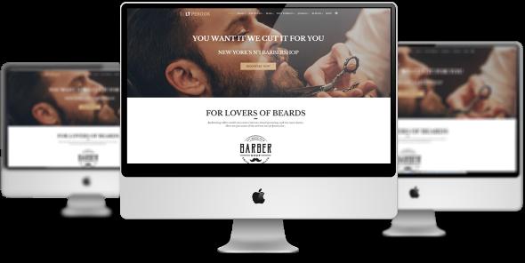 LT Perook Pro - Download Premium Private Barber Shop Virtuemart Joomla Template