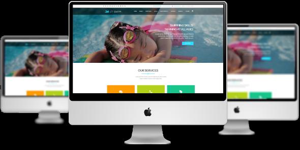 LT Swim Pro - Download Premium Private Swimming School Joomla Template