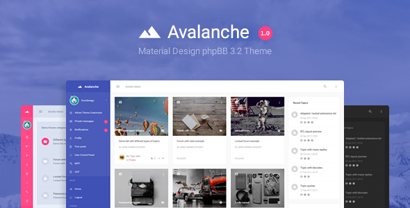 ThemForest Avalanche - Download Material Design phpBB Theme