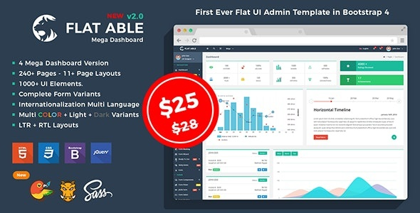 ThemeForest Flat Able - Download Bootstrap 4 Admin HTML Template