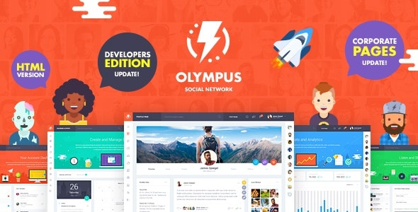 ThemeForest Olympus - Download HTML Social Network Toolkit