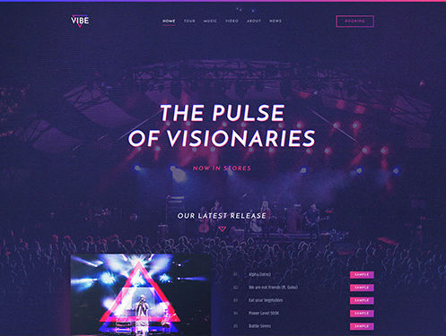 YooTheme Pro Vibe - Download Responsive Artist and Music Joomla Template