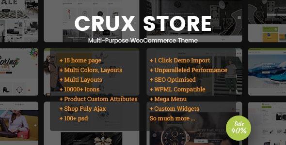 ThemeForest CruxStore - Download Multi-Purpose WooCommerce WordPress Theme