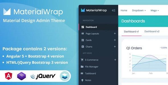 ThemeForest Material Wrap - Download Multipurpose Admin Theme