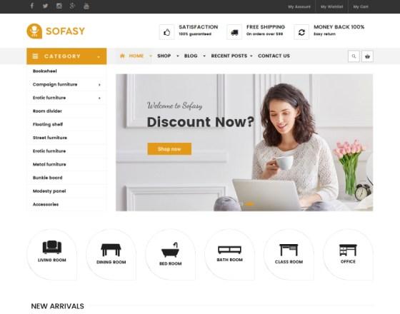 VinaGecko Sofasy - Download Responsive VirtueMart Joomla Template