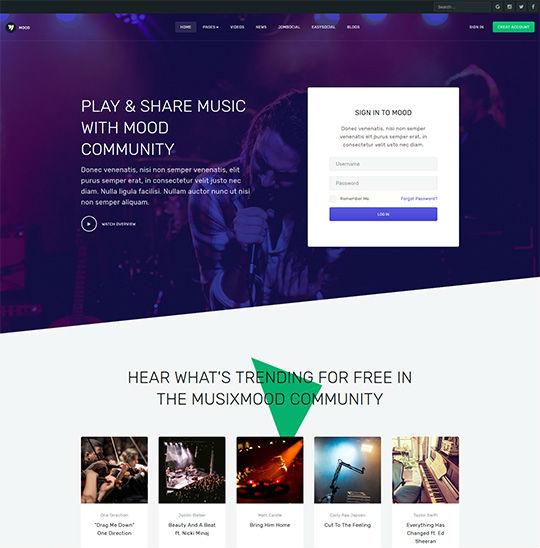 JA Mood - Download Community and Social Joomla Template