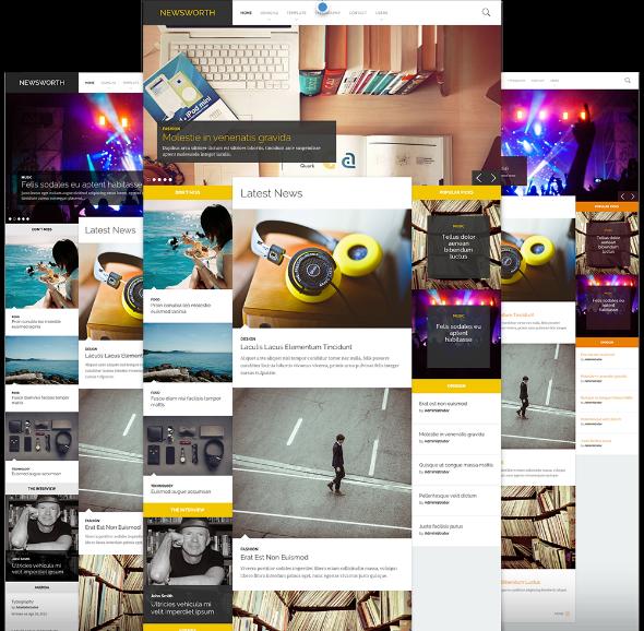 JoomlaWorks NewsWorth - Download Responsive News/Magazine Joomla Template
