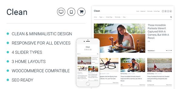 MyThemeShop Clean - Download Minimalistic WordPress Theme For Professional Bloggers