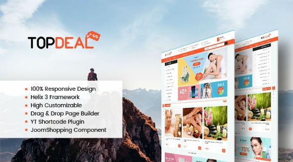 SJ TopDeal - Download Responsive Deals, eCommerce JoomShopping Joomla Template