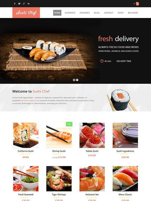AitThemes Sushi - Download Food Delivery WordPress Theme