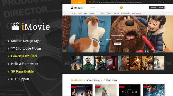 Sj iMovie - Download Responsive Multipurpose Movies, Entertainment Joomla Template