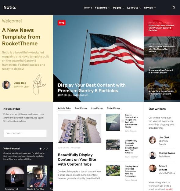 RocketTheme Notio - Download Responsive News and Magazine Joomla Template