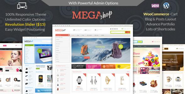ThemeForest Mega Shop - Download WooCommerce Responsive Theme