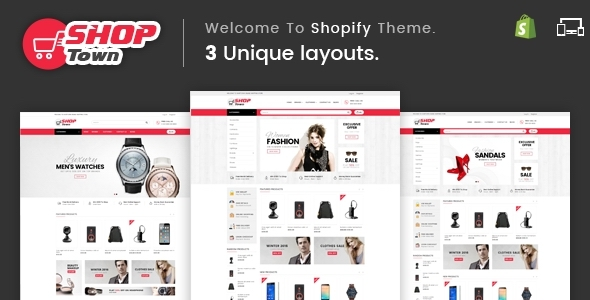 ThemeForest Shop Town - Download Sectioned Multipurpose Shopify Theme