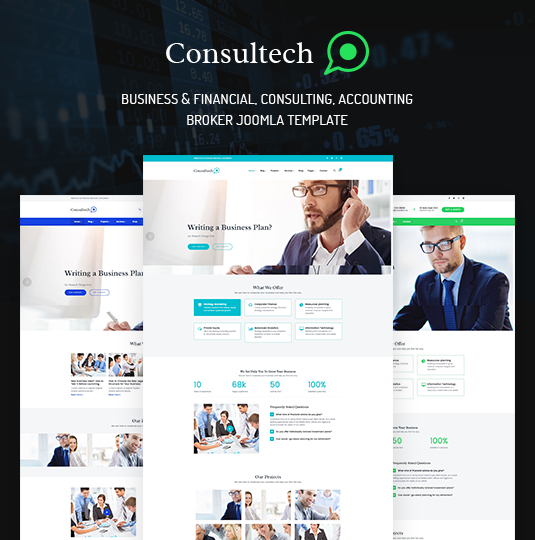 ZT Consultech - Download Responsive Finance & Consulting Business Joomla Template