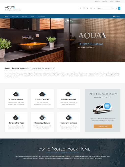 AitThemes Aqua - Download WordPress Theme for Plumbers