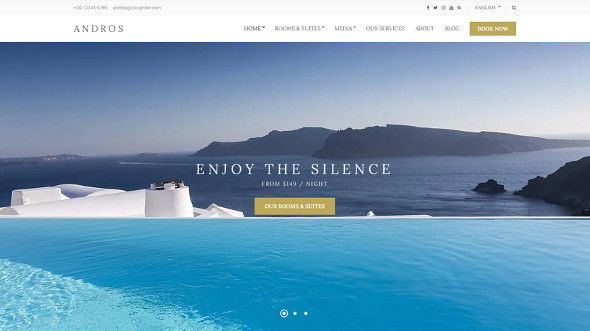 CssIgniter Andros - Download Responsive Hotel Theme for WordPress