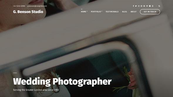 CssIgniter Benson - Download Photography WordPress Theme