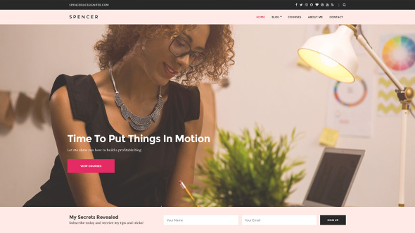 CssIgniter Spencer - Download Business / Blogging WordPress Theme