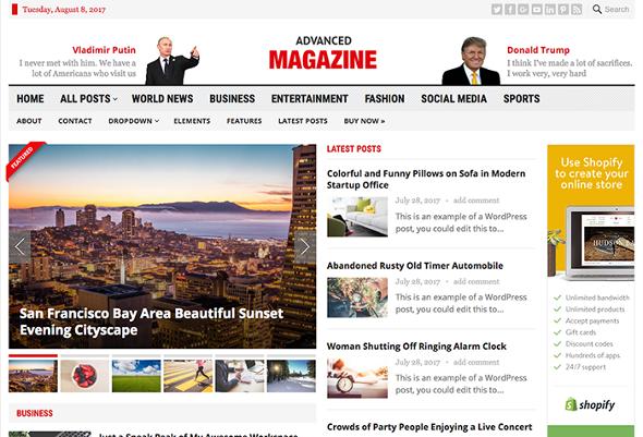 HappyThemes Advanced Magazine - Download News and Magazine WordPress Theme