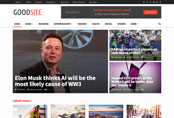 HappyThemes GoodSite - Download Magazine WordPress Theme