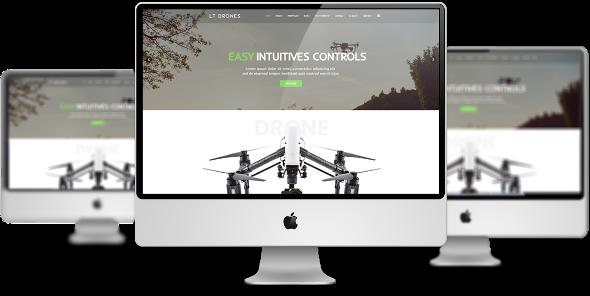 LT Drones - Download Premium Private Drone Joomla Template