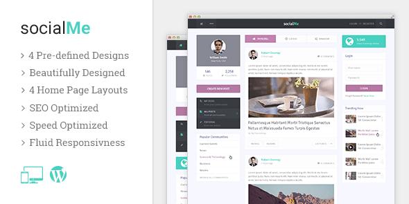 MyThemeShop socialMe - Download Social Blog WordPress Theme
