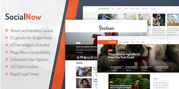 MyThemeShop SocialNow - Download Responsive Blog WordPress Theme