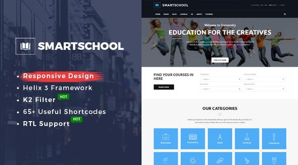 SJ SmartSchool - Download Responsive School, Education Joomla Template