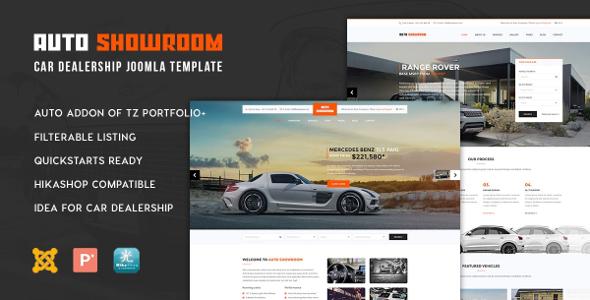 Templaza Auto Showroom - Download Car Dealership Joomla Template