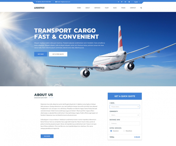 Templaza Logistics - Download Transportation & Logistics Joomla Template