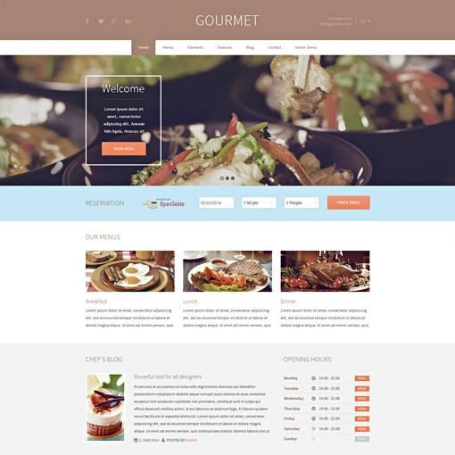AitThemes Gourmet - Download WordPress Theme for Restaurants and Bars